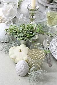 Tischdecke Weiß Bügelfrei : herbstliche tischdeko in wei tischdecke von sander deko herbst und winter tisch deko ~ Eleganceandgraceweddings.com Haus und Dekorationen