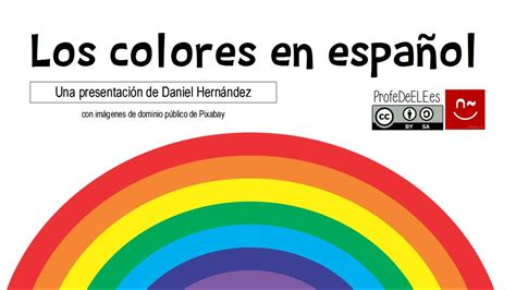 Vocabulalrio De Los Colores En Español  Vocabulary Of