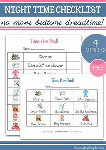 Chore Chart Checklist Nighttime Routine Printable Bedtime Checklist For Kids
