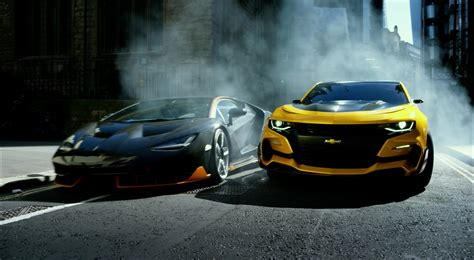 lamborghini transformer the last knight chevrolet camaro and lamborghini centenario in