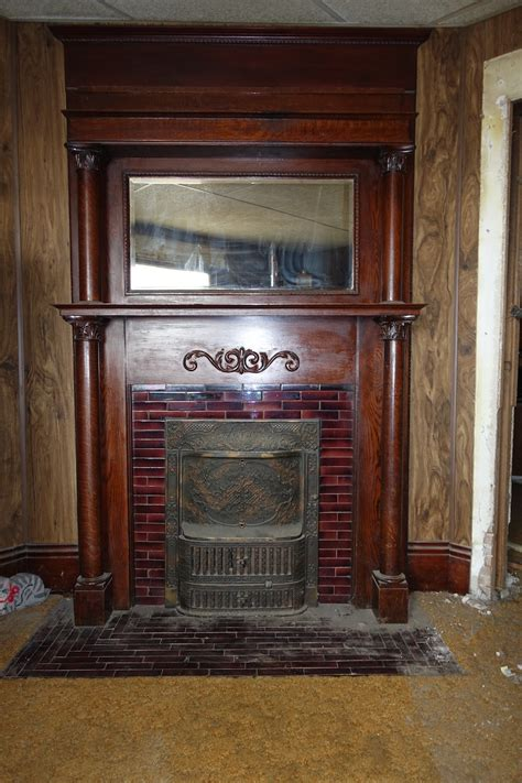 removing  fireplace mantel  tile surround
