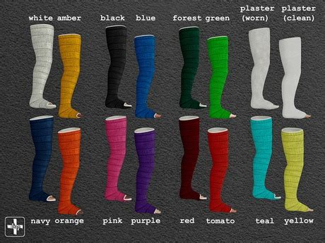 color of cast second marketplace ht leg casts