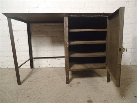industrial desk for sale unusual industrial metal desk with storage for sale at 1stdibs