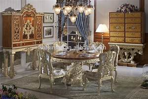 bisini luxury wooden round dining tableluxury baroque With table a manger baroque