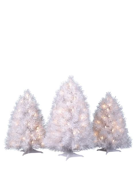 winter white tabletop christmas trees treetopia
