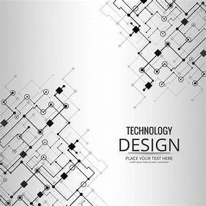 Grey technology background Vector | Free Download