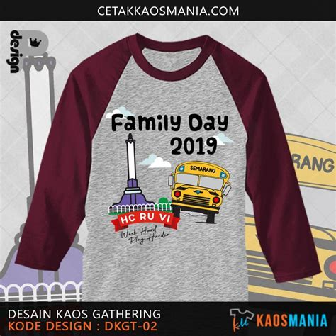 design kaos family gathering perusahaan dct group