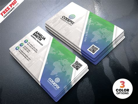 business card template ready to print print ready business card design psd template uxfree