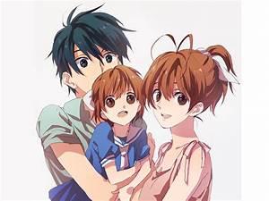 Tomoya. Nagisa, and Ushio Okazaki - Clannad | My Favorite ...