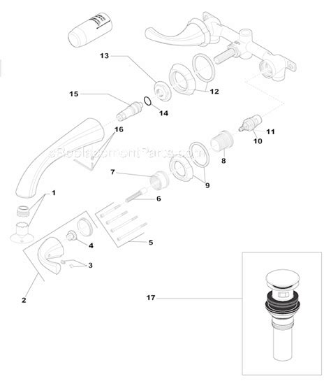 delta faucet aerator assembly diagram delta faucet 3592lf wl parts list and diagram