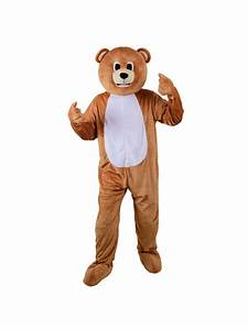 Adult Big Head Teddy Bear Fancy Dress Mascot Costume ...