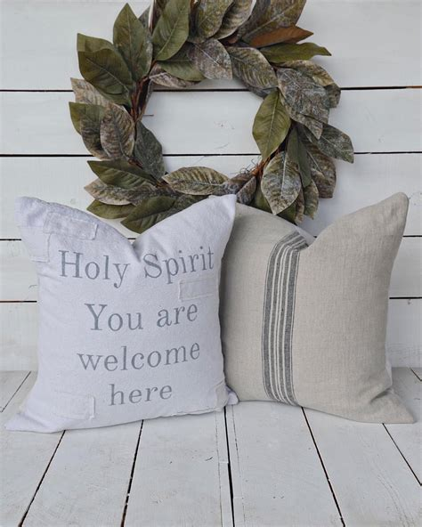 Holy Spirit You are welcome here & our French Linen cover ...