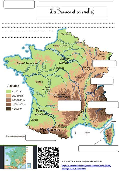 Carte Des Fleuves De Ce2 by Fleuves De Le De Monsieur Mathieu