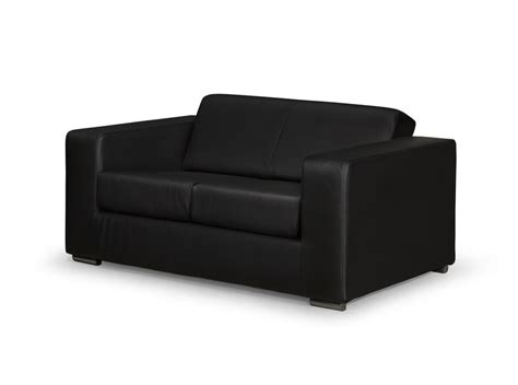 canap 233 design 2 places en simili cuir noir
