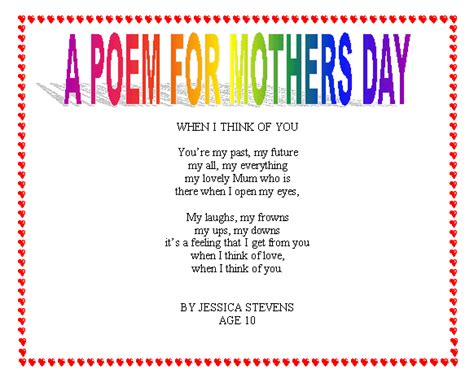 mothers day poems for preschoolers random pictures happy s day 304