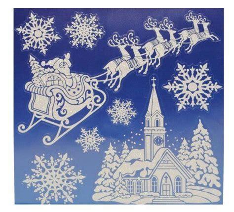 Weihnachtsdeko Fenster Schnee by 8 Tlg Set Fensterbild Weihnachtsmann Schnee Weihnachten