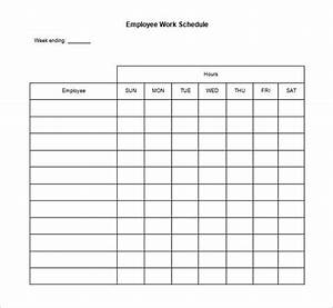 17 blank work schedule templates pdf doc free With employees schedule template free