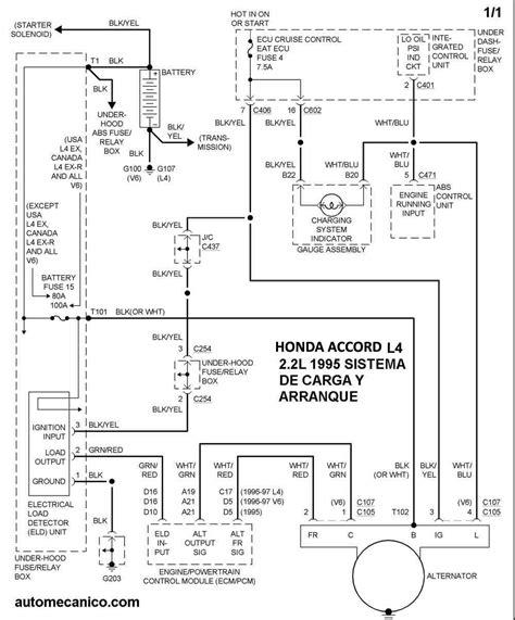 honda diagramas esquemas sistema de carga  arranque