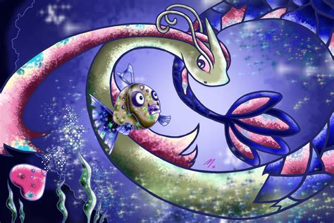 Feebas And Milotic By Maysunders On Deviantart
