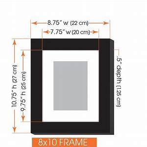 amazoncom gallery perfect 7 piece black photo frame With picture hanging template kit