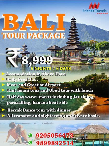 bali  packages  nights  days  price include
