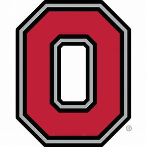 block o clipart With ohio state letter art