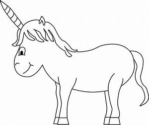 Black and White Unicorn Clip Art - Black and White Unicorn ...