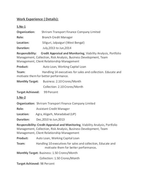 Credit Manager Resume India by Pabitra Adhikary Resume Credit Manager