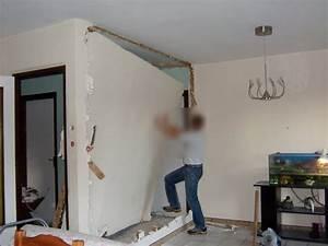Astuce Enlever Plinthes Carrelage Sur Cloisons : suppression d un mur en placo pour agrandir la pi ce ~ Melissatoandfro.com Idées de Décoration