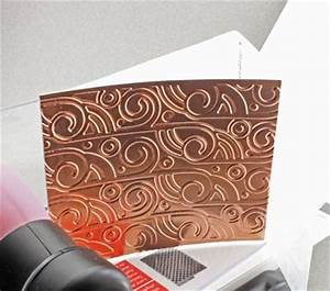embossing metal with a letter press or pasta machine With metal letter embossing
