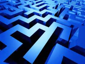 Blue Maze wallpaper – Conservatism is the business of deceit and