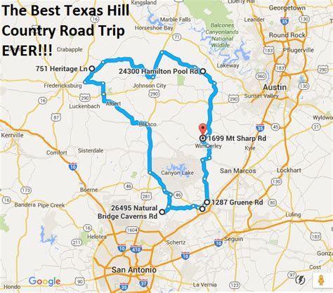 ultimate texas hill country road trip