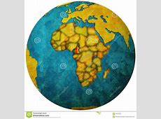 Cameroon Flag On Globe Map Royalty Free Stock Photo