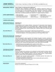 Great Sales Manager Resume by Business To Business Sales Resume Sle Great Free Resumes