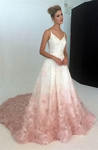 v neck silk organza ball gown wedding dress with blush With blush ball gown wedding dress