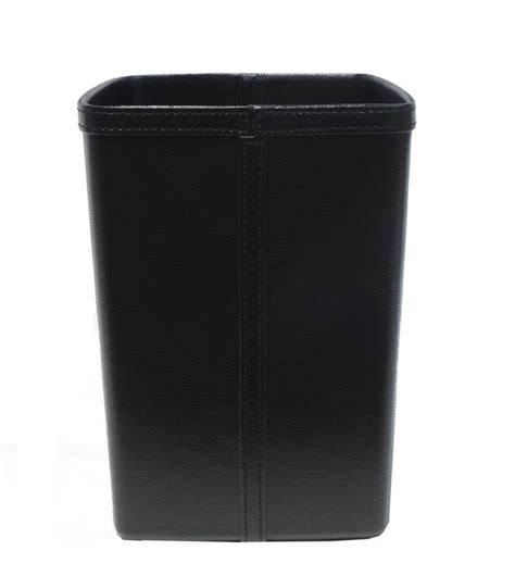 papier bureau corbeille à papier de bureau en similicuir noir