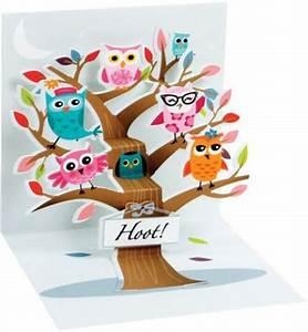 Hoot Owl Pop Up Card