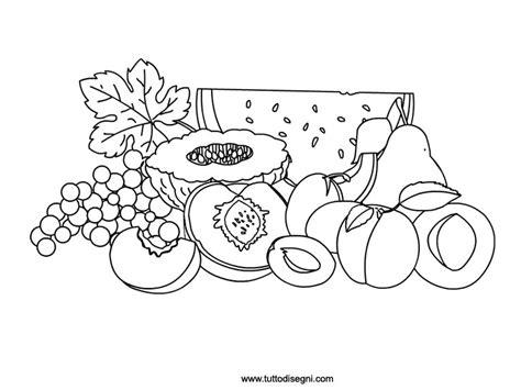 frutta  stagione da colorare tuttodisegnicom