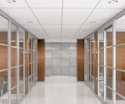 movable glass walls  drop ceiling