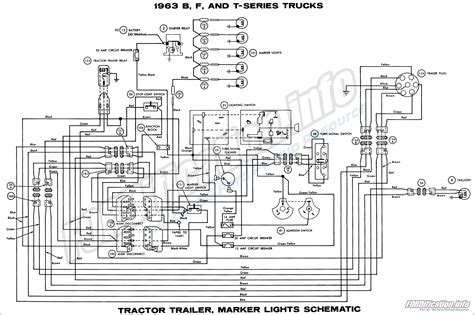1963 Ford Truck Brake Light Wiring Diagram by 1963 Ford Truck Wiring Diagrams Fordification Info The