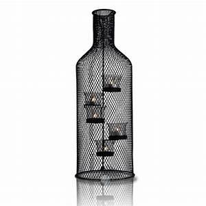 Kerzenhalter Für Flaschen : flaschen teelichthalter kerzenhalter glas kerzenst nder ~ Whattoseeinmadrid.com Haus und Dekorationen