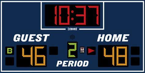 model lx basketball scoreboard
