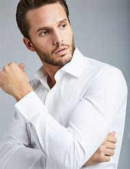 Hawes & Men's Dress White Slim Fit Cotton Stre…