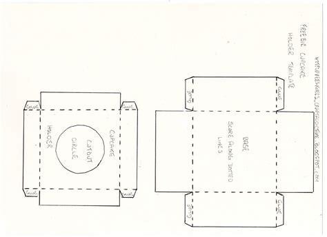 gemini designs uk freebie cupcake holder template