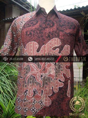 jual kemeja batik seragam motif ikan merah kombinasi