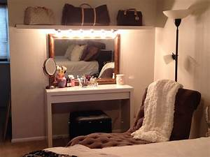 Ikea Hollywood Mirror With Lights Diy Makeup Vanity Malm Dressing Table With Pull Out