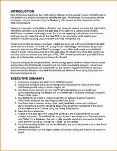 9 executive summary template apa format financial for Apa format executive summary template