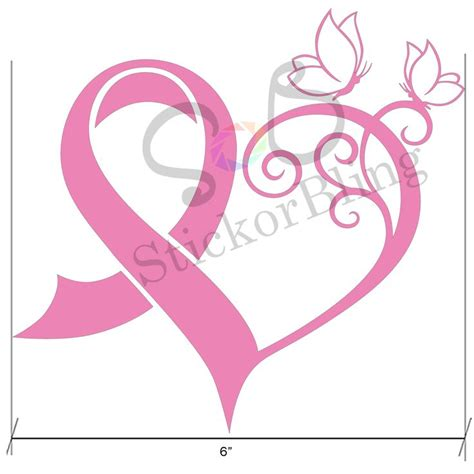 cancer ribbon heart clipart collection