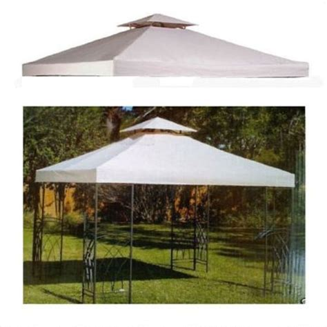 10x10 canopy cover 10 x 10 replacement gazebo canopy beige top cover patio