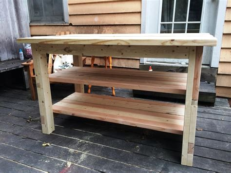 Ana White  Rustic Kitchen Island  Built By House Food